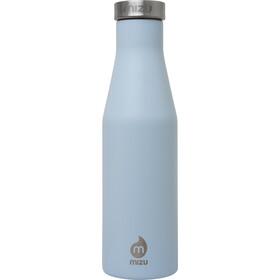 MIZU S4 Drinkfles with Stainless Steel Cap 400ml blauw/zilver